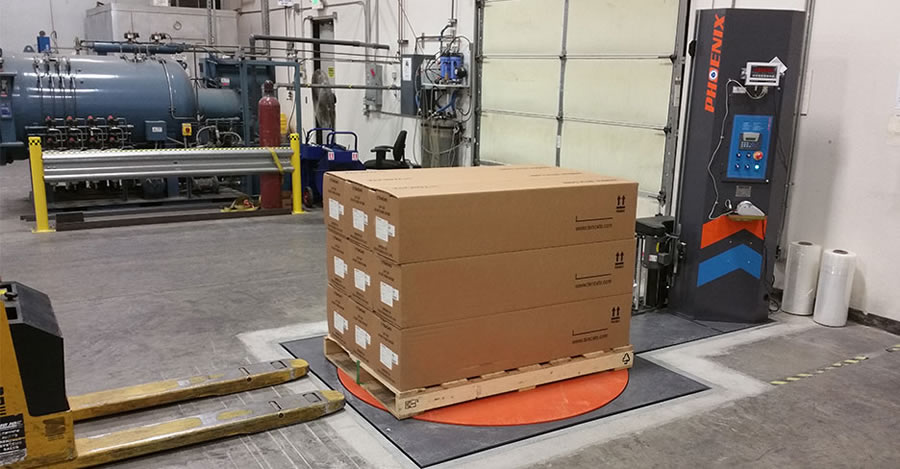 Semi-Automatic Pallet Wrapper Has Performance, Speed And Flexibility