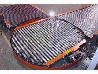 Conveyor turntables skirt Orange