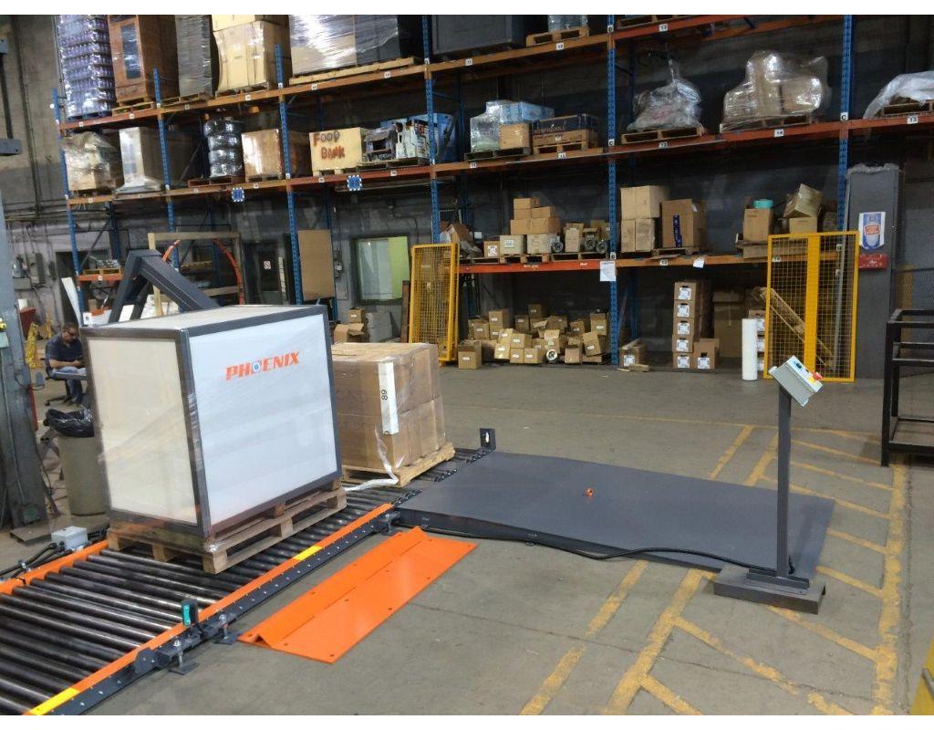 Automatic Rotary Arm Stretch Wrap Machine (Versatile And Conveyorized)